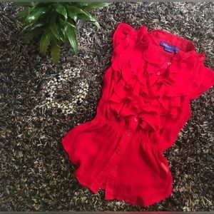 SALE 3 for $30 Miley Cyrus Ruffle Blouse